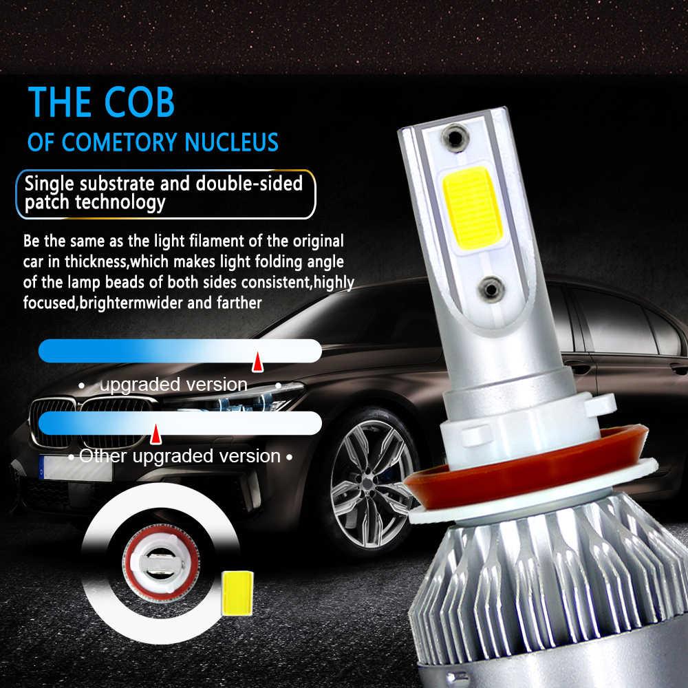 1Pc H11 H4 LED H7 LED Bulb Mobil Lampu Depan H1 H3 H13 880 9005 9006 9004 9007 72W 8000LM 6000K Kabut Lampu Auto Headlamp Lampu
