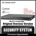 HIKVISION DS-7608NI-E2/8 P Original Inglês Versão VGA HDMI H264 P2P 8CH NVR 8POE Network Video Recorder Onvif CCTV câmera HIK