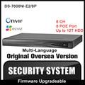 HIKVISION DS-7608NI-E2/8P Original English Version NVR P2P 8CH 8POE VGA HDMI H264 Network Video Recorder Onvif CCTV camera HIK