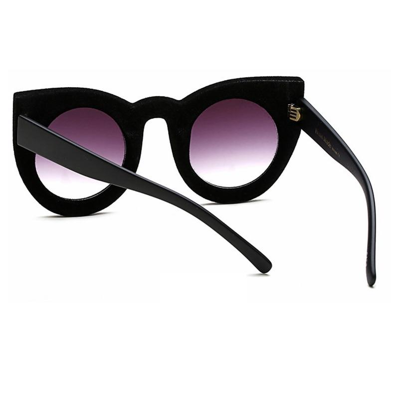 2dec537936e MONIQUE Fashion Sunglasses Women Luxury velvet Sunglasses Big Frame Sexy cat  eye Oversize sun glasses UV400 -in Sunglasses from Apparel Accessories on  ...