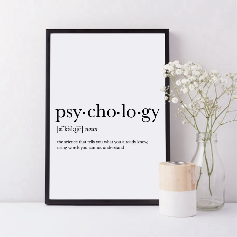 Psycholog Gifts Print Funny Definition Poster, Psychology Quote Canvas Painting College Dorm Room Wall Art Minimalist Poster-in Painting & Calligraphy from ...