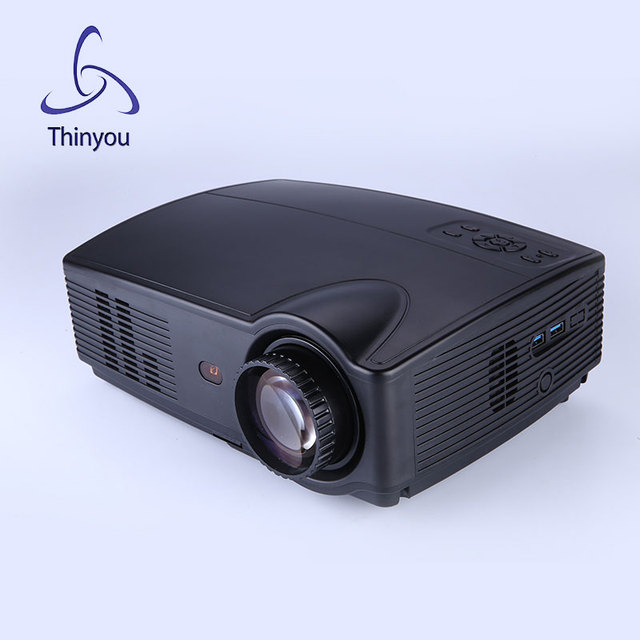 Thinyou Новый Оригинальный Портативный LED 3D Проектор HDMI Домашний Кинотеатр Проектор Мультимедиа Proyector Поддержка HD 1080 P Видео