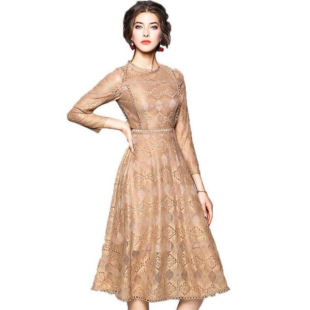 Aliexpress Buy Plus Size Vintage Hollow Out Lace Dress Women