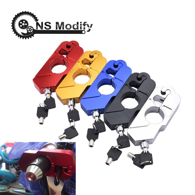 NS Modify Motorcycle Handlebar Lock Grip Security Safety Locks Motorcycle Grip Lock Fit Scooter ATV Dirt Street Bikes Auto
