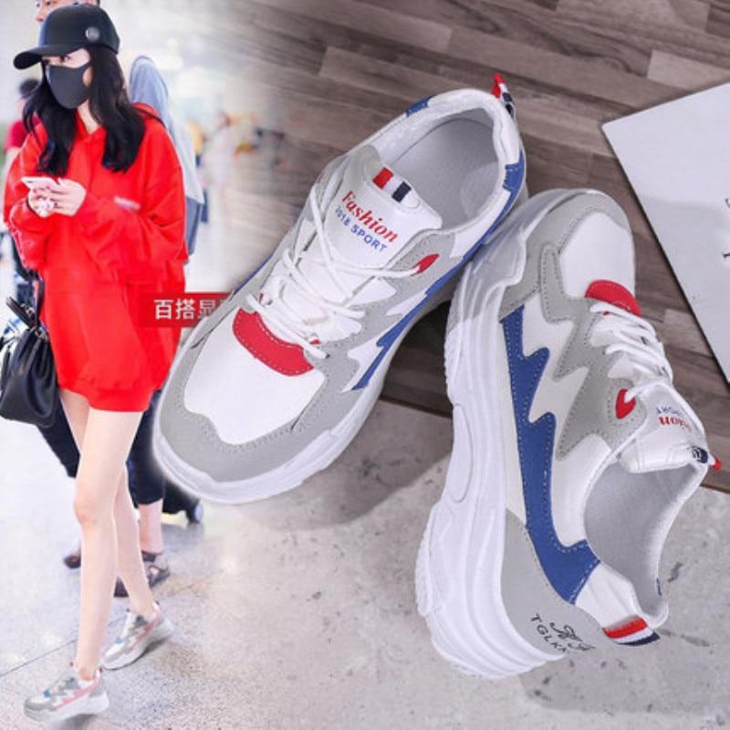 1 Gâteaux 3 De Petit Ulzzang Blanc Nouvelle Vieux 2 Harajuku Version 2018 Chaussures Sauvage Femmes Épais Coréenne atFqx6wv