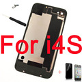 New Rear Battery Housing Back Glass Cover Door Case for iPhone 4 4G 4s free Original Screws tool replacament