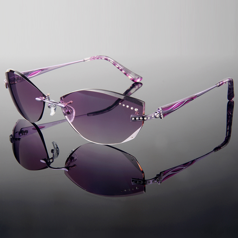 Rimless Glasses With Rhinestones : ?(^ ^)?2015 Summer style trimming cut ? rimless rimless ...
