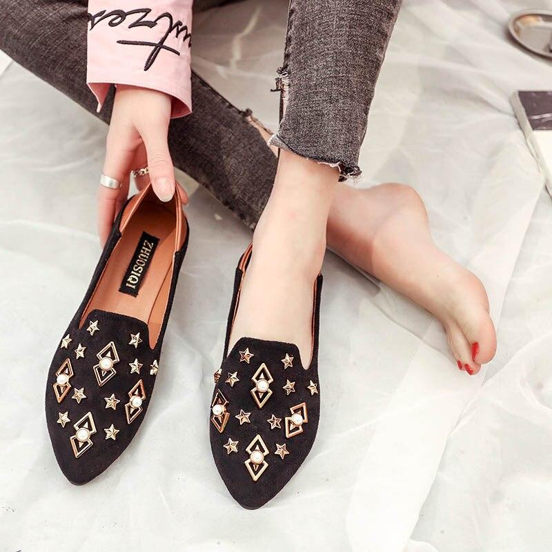 Couleur Solide Se565 Gtime black Femme Printemps Plat Cristal Zapatos Automne Chaussures Beige Femmes Appartements Mocassins Mujer wqqTOA4pX