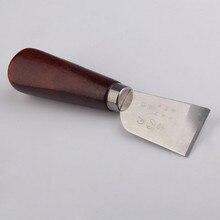 Профессиональный нож для резки кожи с деревянной ручкой переносной удобный инструмент для рукоделия функциональный идеальный