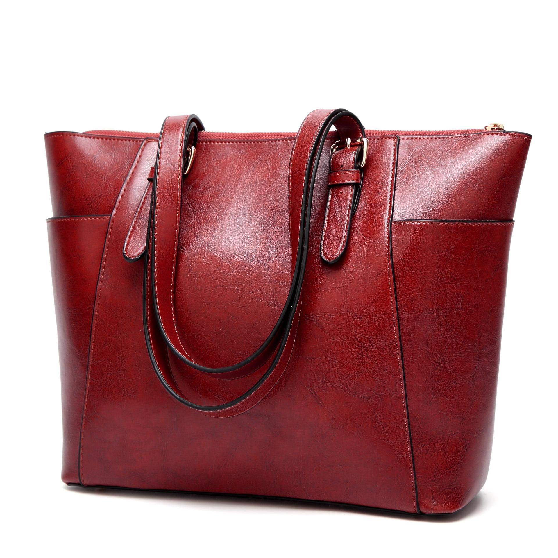 2018 NEW FASHION WOMEN'S BAG RETRO EUROPE AND AMERICA SHOULDER MESSENGER BAG FOREIGN TRADE WAX LADIES HANDBAG WALLET PURSE rm 8912 europe and america new fashion ladies bag leather handbag shoulder bags women tassel messenger bag