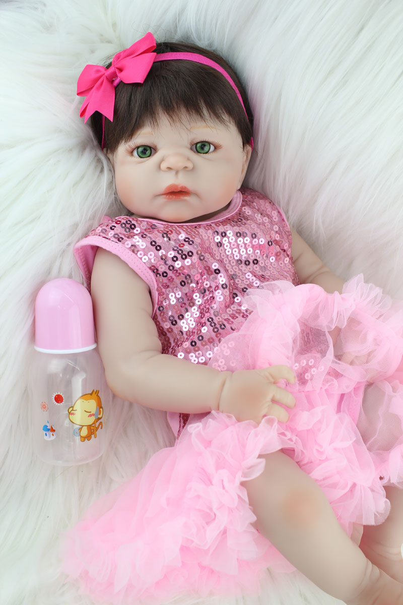 Girl Toys Doll : Cm full silicone body reborn girl baby doll toys newborn