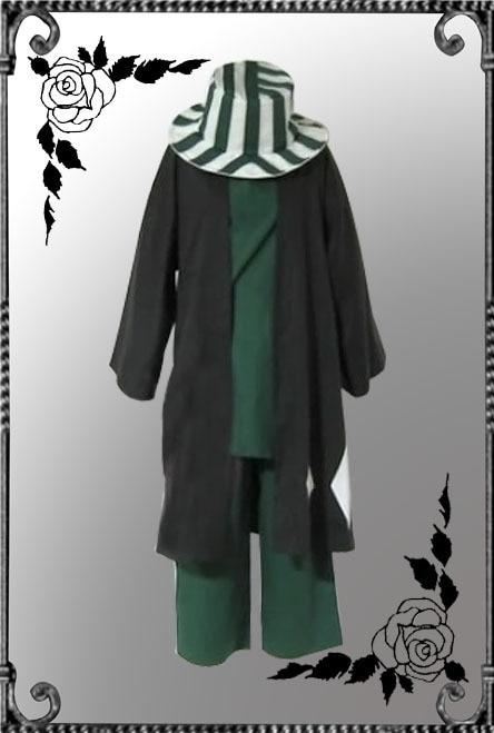 Anime Bleach Urahara Kisuke Cosplay Costume Kimono Halloween Costume Full Outfit coat shirt pants hat