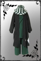 Anime Bleach Urahara Kisuke Cosplay Costume Kimono Halloween Costume Full Outfit coat+shirt+pants+hat
