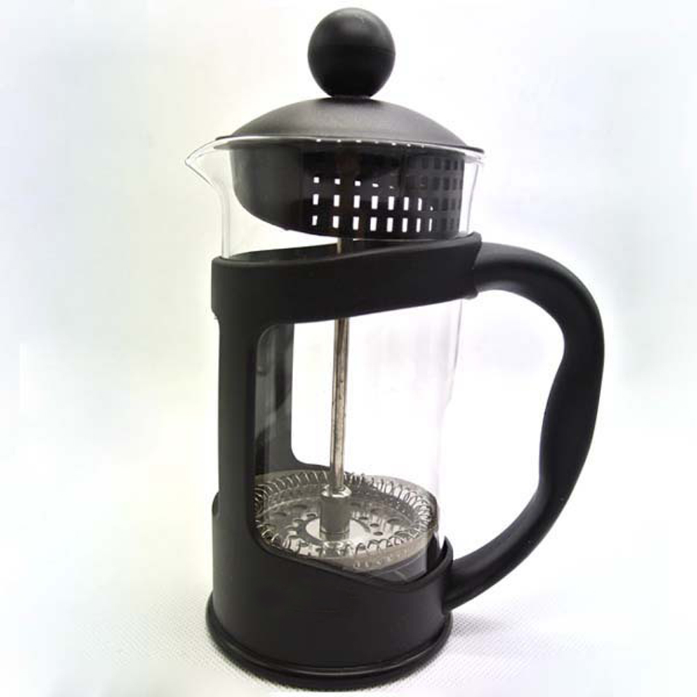 Coffee Make French Press Coffee Pot 12oz Stainless Steel Case Heat-resistant Glass Pot Stainless Mesh Filter Coffee accessories