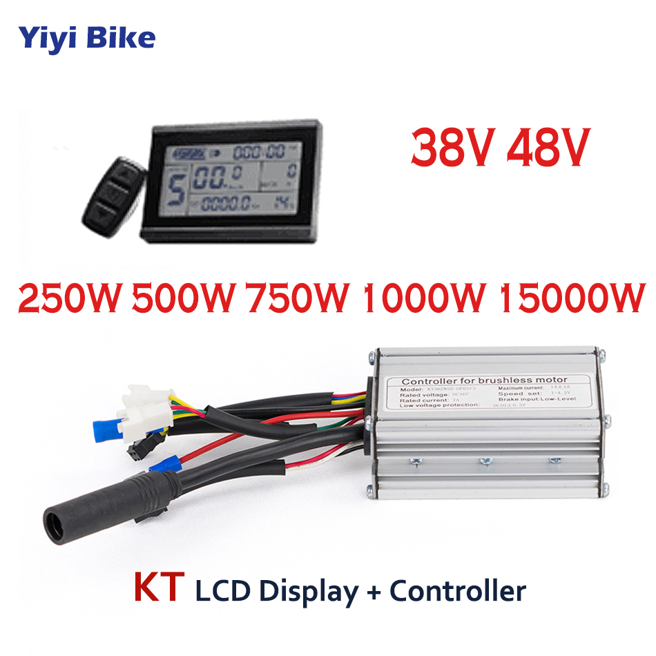 KT 36V 48V 500W-1500W Electric Bicycle Controller with LCD Display Electric Bike Scooter Brushless Controller e bike Accessories 36v electric bike display controller with hall sensor electric bike kit electric bicycle motor