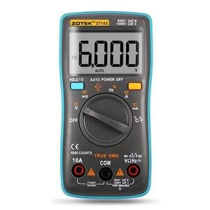 Image 5 - Multimètre numérique ZT102, avec éclairage arrière, 6000 mesures, ampèremètre AC/DC, voltmètre Ohm fréquence Diode température