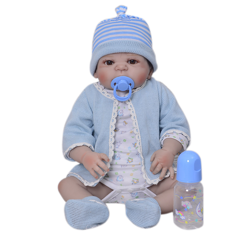 23'' Fashion Reborn Baby Dolls Full Body Silicone Realistic Baby Doll Toy For Boy Children's Day Gifts Real Alive Bebe Reborns npk hot sale reborn baby dolls realistic girl princess 23 inch baby dolls alive reborns toddler bebe washable toy for kids gifts