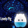 Lovely Pig Automatic Rotating Starry Sky Star Projector Light Sleeping LED Night lights star master with 4 patterns Light slice