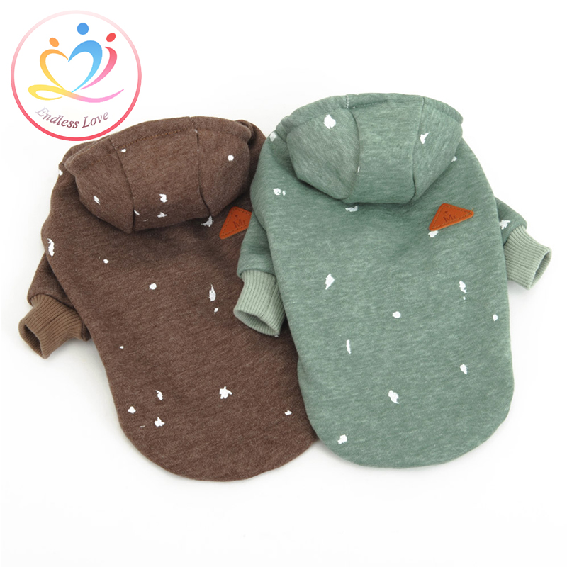 High Quality XS-XL Spring Winter Puppy Clothes big small Dogs hoodie dog clothing Vestidos Soft Cotton Pet Coat fashion Jacket