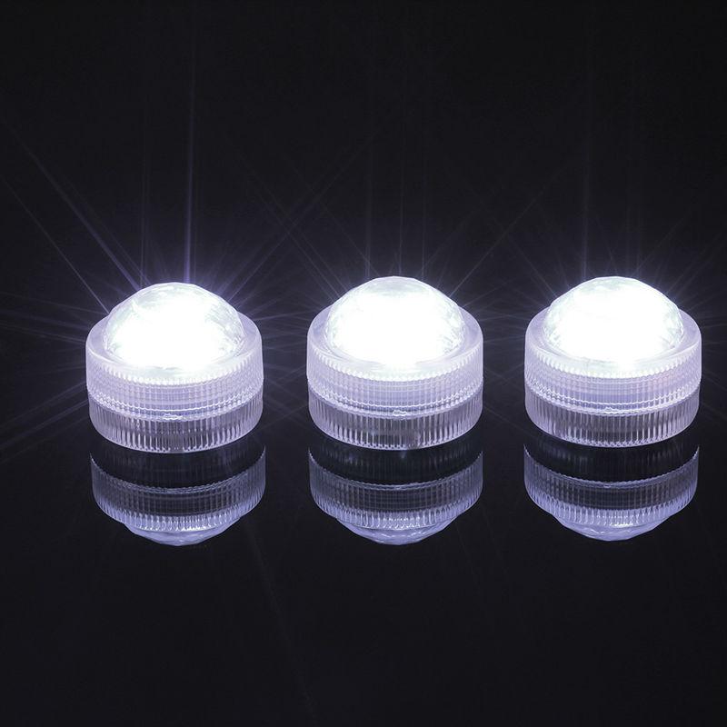 10 шт. * 3 светодиода погружные свет с пульта дистанционного управления Свадебная вечери ...