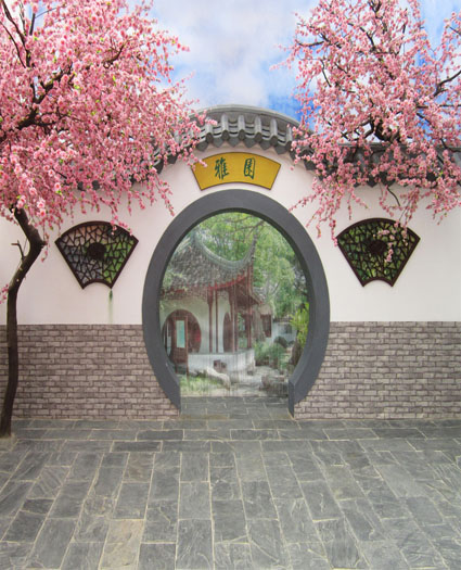LIFE MAGIC BOX 5X7Ft Photography Backdrops Background Moon Gate In The Wall Nga Cm-5319