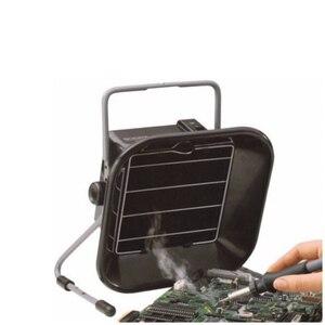 Image 2 - Extractor de humo profesional, 220V, 493, para soldar + 5 uds. De esponjas, carbón activado, ESD, filtro de aire
