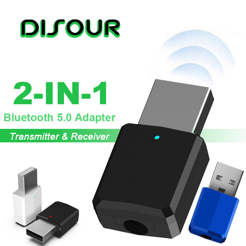 2 In 1 5.0 Bluetooth Transmitter Receiver AUX 3.5mm Stereo Music Wireless Adapter Car Kit Bluetooth Receiver For TV Earphone USB