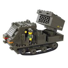 Army Military Rocket Gun Soldiers Tank Building Blocks Compatible Legoelieds Playmobil Boys Educational Toys for Children B0286