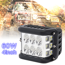 4 Inch 12V 80V 60W White Waterproof LED Work Light with Multiple Lighting Mode Car Working for Off-road Pickup Wagon