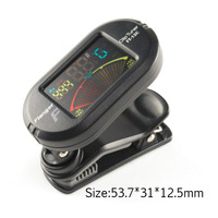 Color Screen Guitar Tuner Digital Tuner With Clip On Design For Guitar FT 12C Free Shipping
