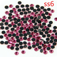 SS6 Rose 1000 Gross Crystal Iron On Strass Hot Fix Stone Flatback DMC Rhinestones For Garment DIY Accessories
