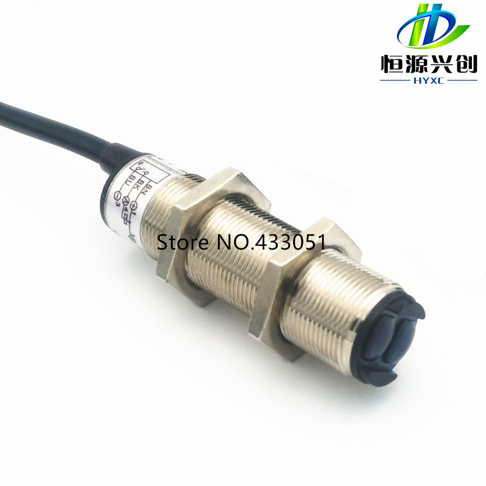 Free shipping ,Photoelectric switch sensors,Detection distance of 1.5 meter,NPN,power supply 10~30V DC,Normally open type switch free shipping u shaped rectification infrared sensor 30mm width groove type photoelectric photo switch npn