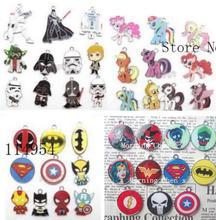 Nouveau 100 pièces mélange bande dessinée anime charmes bricolage pendentif bijoux faisant la P  195