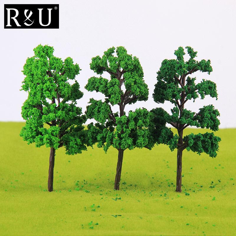 10PCS Ho Scale Plastic Miniature Model Trees For Building Trains Railroad Wargame Layout Scenery Landscape Diorama Accessories