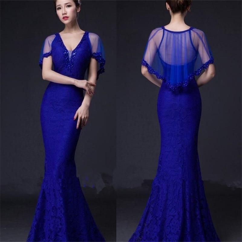 ᗚImagen real Encaje rebordeado partido vestidos vestido de noche ...