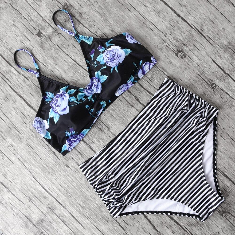 Print Sexy Bikini 2019 Mujer Plus Size Swimwear Women Halter High Waist Bikini Push Up Swimsuit Female Maillot De Bain Femme