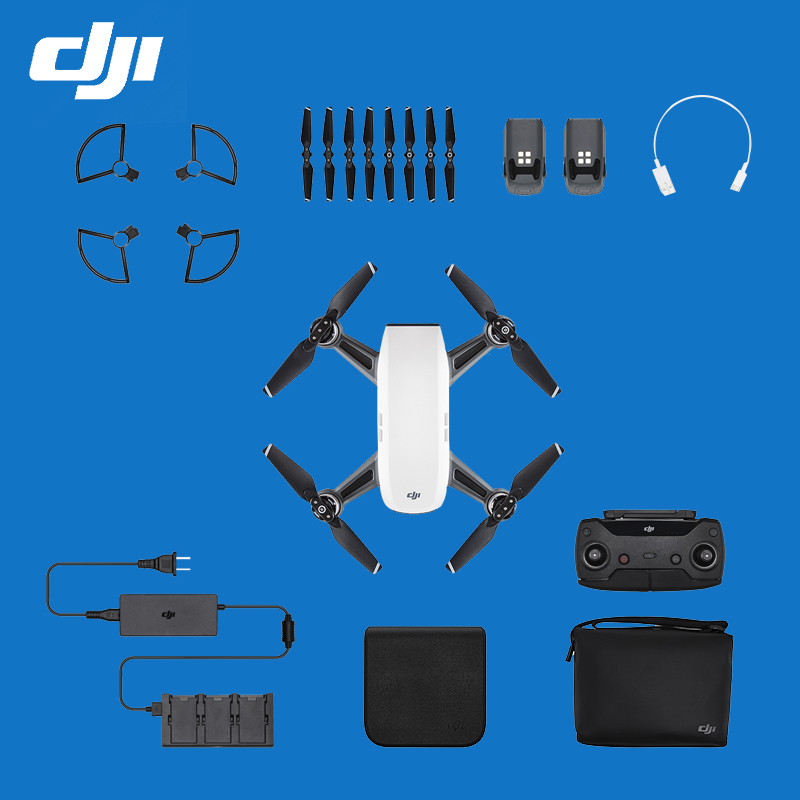 In Stock!!! DJI Spark fly more combo with remote controller and standard version Pocket Selfie Drone WiFi FPV VS Mavic pro