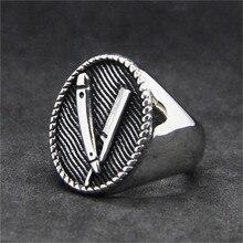 1 шт. поддержка дропшиппинг дизайн бритвенное кольцо 316L Нержавеющая сталь золотое серебро панк стиль крутое бритвенное кольцо