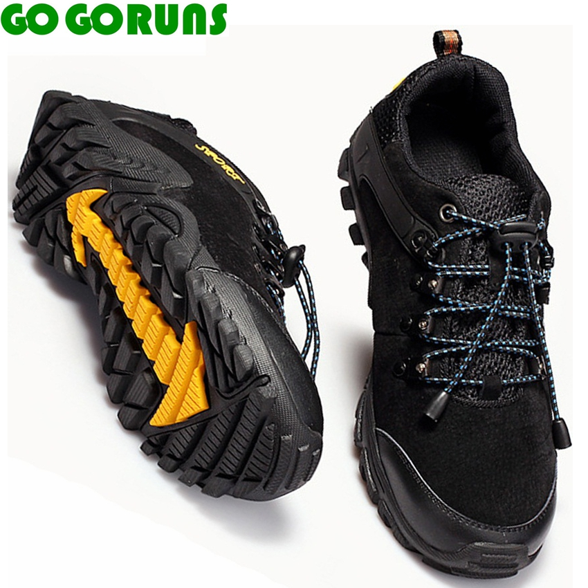 outdoor sport men hiking shoes genuine leather breathable non slip trekking hiking shoes men sneakers zapatillas de trekking men mulinsen men s running shoes blue black red gray outdoor running sport shoes breathable non slip sport sneakers 270235