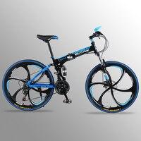 24 скорость 26 дюймов складной велосипед велосипеды двойной дисковые тормоза складной горные велосипеды студент велосипед Bicicleta road bike