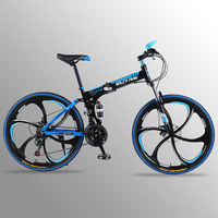 Flying Leopard Mountain Bike 21 speed 26inch Folding bike road bike Double disc brakes folding mountain bikes student bicycle