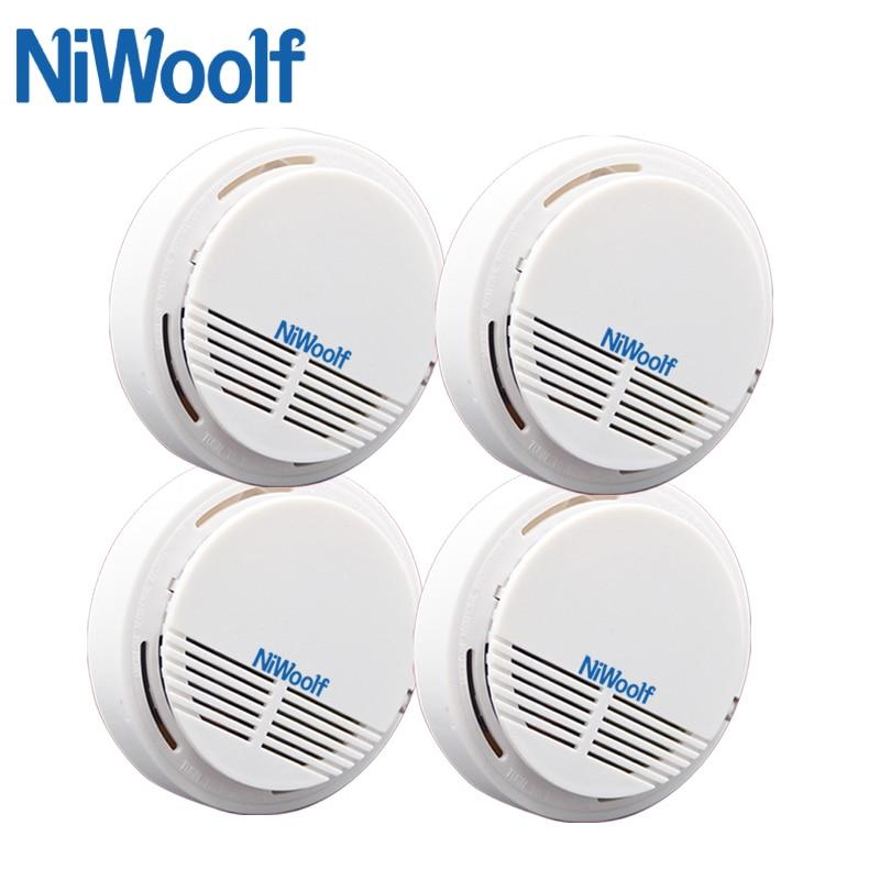 2018 New Free Shipping Smoke Sensor Fire Alarm 4 Piece White 433MHz Cheap Beautiful Popular In Market