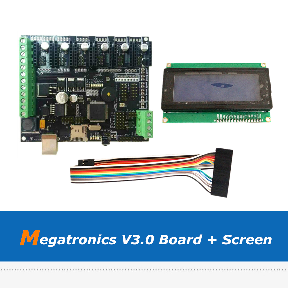 3D Printer Accessories Megatronics V3 Motherboard Integrated Board + 2004 LCD Screen with AD597 Main Chip original l22n6 471 0103 57917g main screen with lm220wei