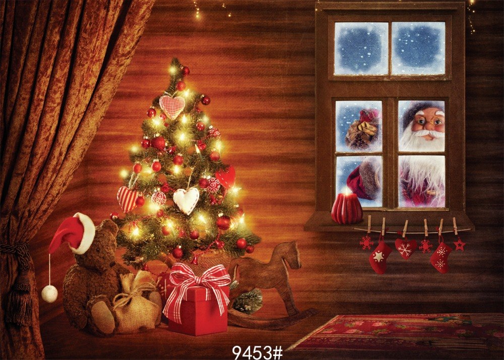 Children Christmas indoor photography background  210x150cm Photography backdrops Photo background  Fond studio photo vinyle fond studio photo vinyle foto background photography backdrops autumn wood window photography backdrops