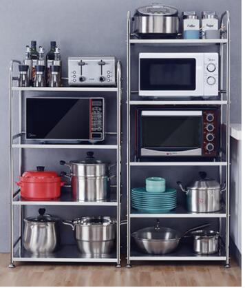 304 stainless steel kitchen rack microwave oven rack floor - to - floor multi - layer pot shelf storage home storage cabinet