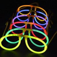 400pcs Glow in the Dark Glasses Glow Stick Bright Neon Glasses Parties Festivals
