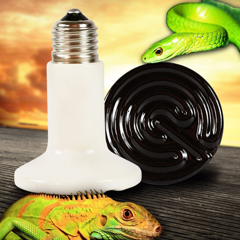 Pet Infrared Emitter Ceramic Heating Lamp E27 Heat Light Bulb Reptile Brooder 75mm 25W/50W/75W/100W/150W/200W 110V/220V