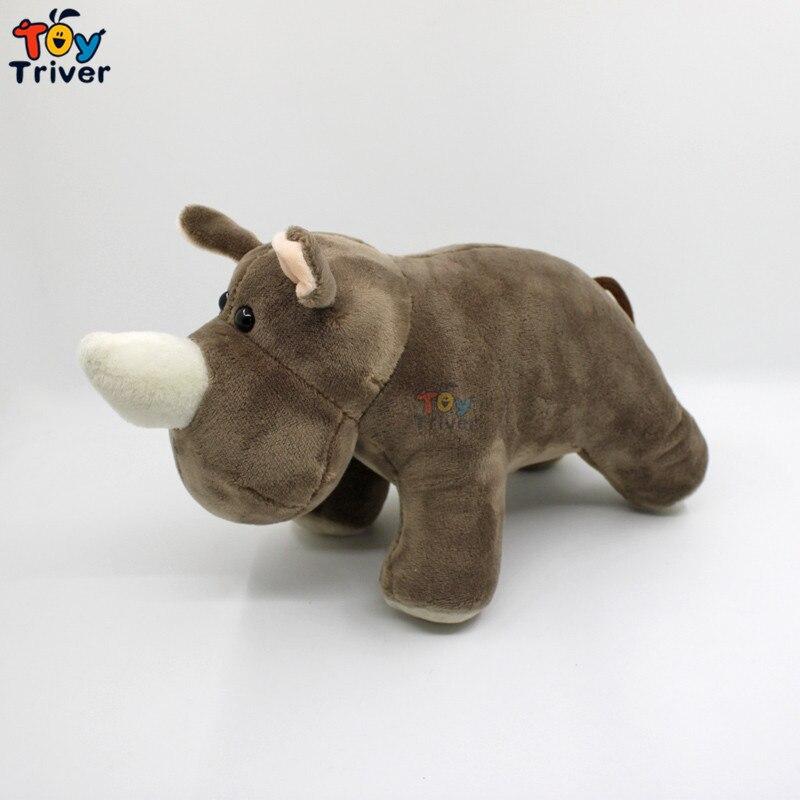 25 centímetros Simulação de Pelúcia Macia Brinquedo de Pelúcia Boneca Brinquedos Hipopótamo Hipopótamos Rinoceronte Selvagem Animais Crianças Bebê Crianças Estudante Presente Especial triver