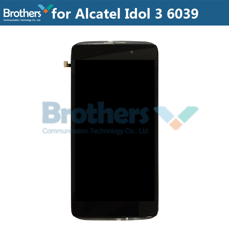 LCD Screen For Alcatel Idol 3 6039 6039A 6039K 6039Y LCD Display With Touch Screen Digitizer Assembly With Frame Replacement Top (3)