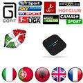 2016 Hot Freesat XXX IPTV Italiana Super IPTV 1500 + Canal Europa HotClub Amlogic S805 TV Box1G/8G Android 4.4.2 caixa STB Android